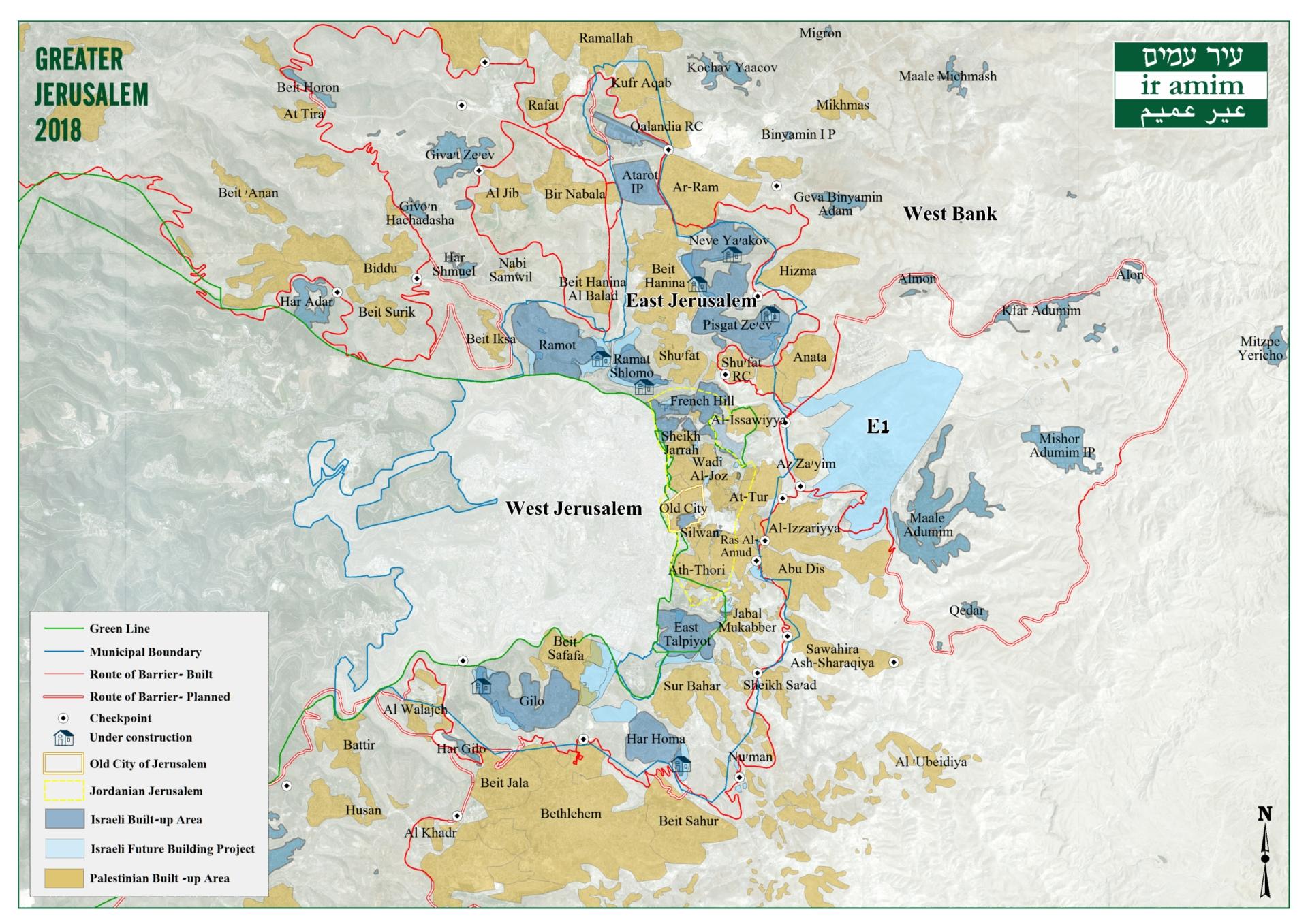 Greater Jerusalem 2018
