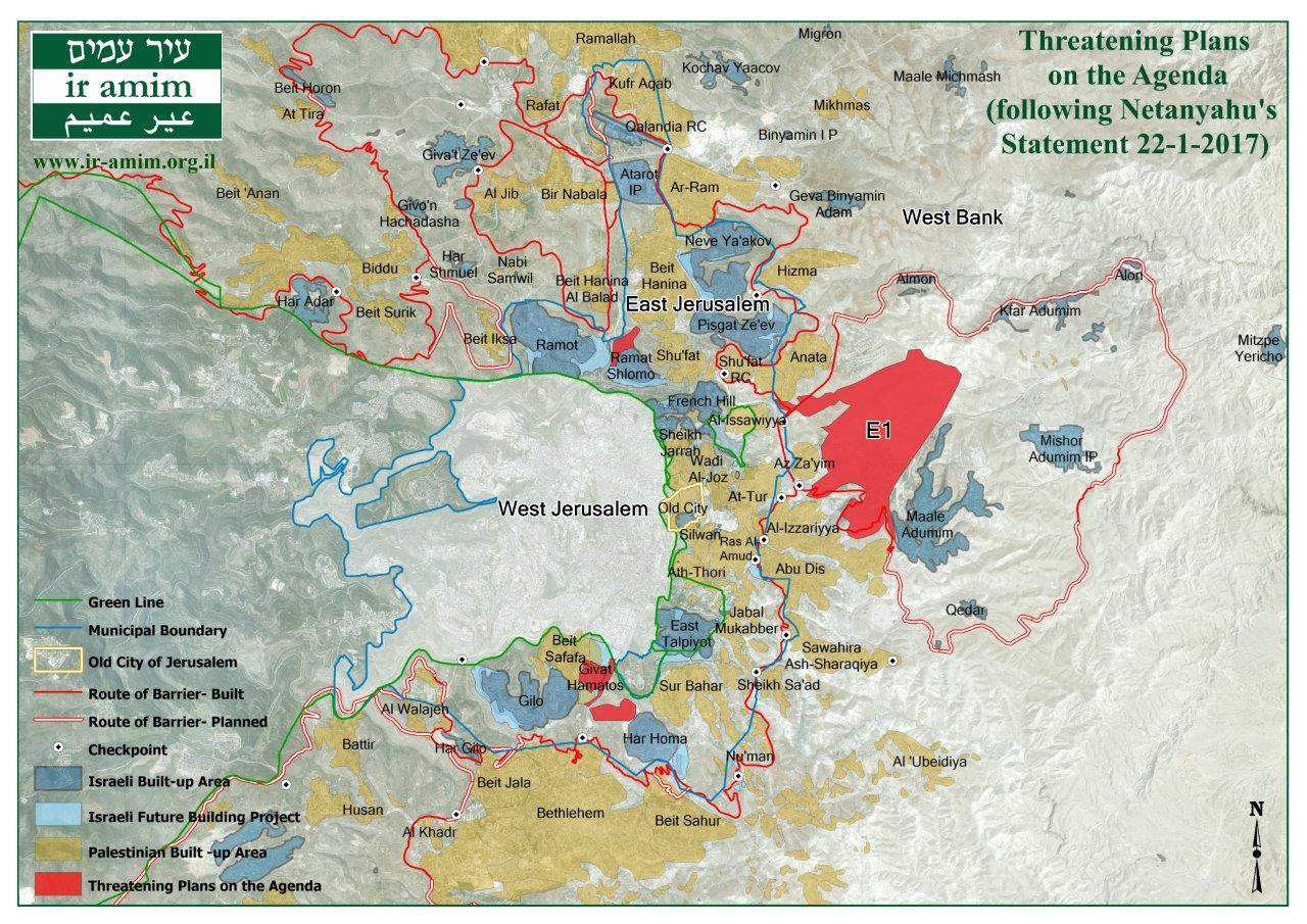 Map for Netanyahu's Statement 22-1-2017